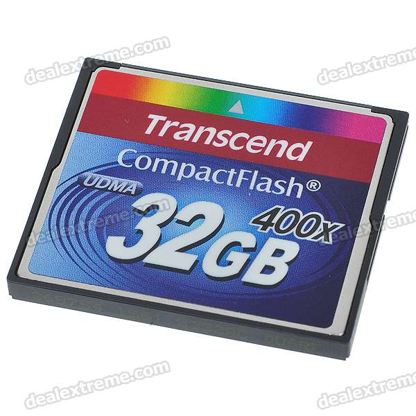 Transcend 400X 32GB Compact Flash CF Memory Card