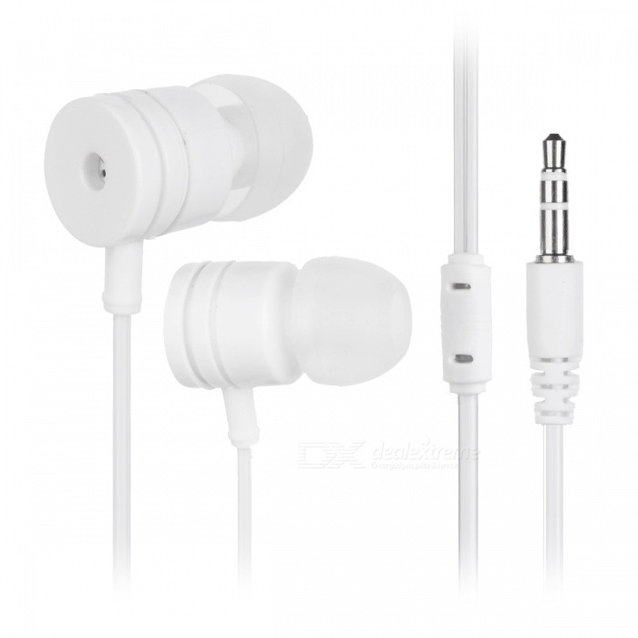 M4 Stylish In-Ear Earphones for Cell Phones / Tablet PCs - WhiteHeadphones<br>Form  ColorWhiteBrandOthers,N/AMaterialPlastic + alloyQuantity1 DX.PCM.Model.AttributeModel.UnitConnection3.5mm WiredBluetooth VersionNoConnects Two Phones SimultaneouslyNoCable Length113 DX.PCM.Model.AttributeModel.UnitLeft &amp; Right Cables TypeEqual LengthHeadphone StyleIn-EarWaterproof LevelIPX2Applicable ProductsUniversalHeadphone FeaturesHiFiRadio TunerNoSupport Memory CardNoSupport Apt-XNoChannels2.0Packing List1 x Earphone<br>