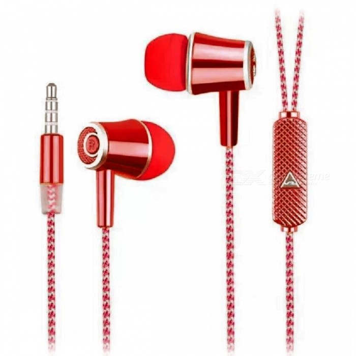 In-Ear Earphones w/ Microphone / Phone Call Button - RedHeadphones<br>Form  ColorRedBrandOthers,N/AMaterialPlastic + alloyQuantity1 DX.PCM.Model.AttributeModel.UnitConnection3.5mm WiredBluetooth VersionNoConnects Two Phones SimultaneouslyNoCable Length110 DX.PCM.Model.AttributeModel.UnitLeft &amp; Right Cables TypeEqual LengthHeadphone StyleIn-EarWaterproof LevelIPX2Applicable ProductsUniversalHeadphone FeaturesHiFiRadio TunerNoSupport Memory CardNoSupport Apt-XNoChannels1.0Packing List1 x Earphones<br>