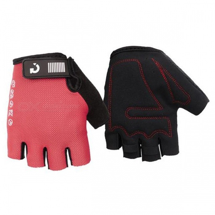 MOKE Bike Riding Anti-Slip Semi-Finger Gloves - Red (XXL, Pair)Gloves<br>Form  ColorRedSizeXXLQuantity1 DX.PCM.Model.AttributeModel.UnitMaterialSpandex MicrofiberTypeHalf-Finger GlovesSuitable forAdultsGenderUnisexPalm Girth18 DX.PCM.Model.AttributeModel.UnitGlove Length13 DX.PCM.Model.AttributeModel.UnitBest UseCycling,Mountain Cycling,Recreational Cycling,Road CyclingPacking List1 x Pair of gloves<br>