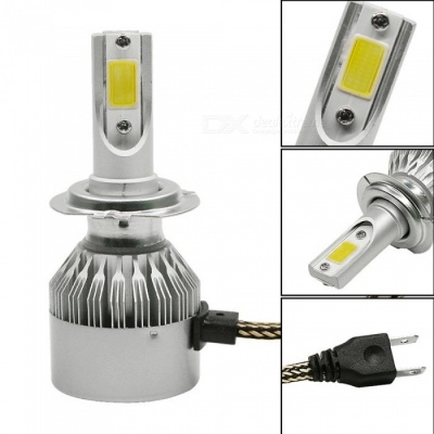 H7 Car LED Light Bulbs Headlights 12V 72W 7600LM LED Headlamps (2PCS)