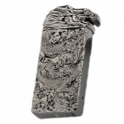 ZHAOYAO Cool Dragon Style USB Rechargeable Cigarette Lighter - Black