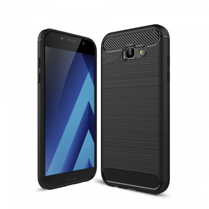 Dayspirit Carbon Fiber TPU Case for Samsung Galaxy A7(2017) / A720TPU Cases<br>Form  ColorBlackModelN/AQuantity1 pieceMaterialTPUShade Of ColorBlackCompatible ModelsSamsung Galaxy A7(2017) / A720DesignOthers,Carbon fiberStyleBack CasesPacking List1 x Case<br>