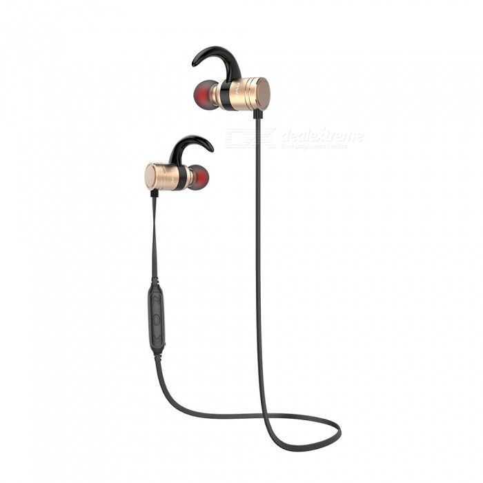 AWEI AK7 IPX4 Waterproof Wireless Bluetooth Earphone - GoldenHeadphones<br>Form  ColorGoldenBrandAWEIModelAK7MaterialTPE + ABS + magnet + metalQuantity1 DX.PCM.Model.AttributeModel.UnitConnectionBluetoothBluetooth VersionBluetooth V4.1Bluetooth ChipCSR8640Operating Range10MConnects Two Phones SimultaneouslyYesHeadphone StyleBilateral,Earbud,In-EarWaterproof LevelIPX4Applicable ProductsUniversalHeadphone FeaturesPhone Control,Long Time Standby,Magnetic Adsorption,Noise-Canceling,Volume Control,With Microphone,Lightweight,Portable,For Sports &amp; ExerciseSupport Memory CardNoSupport Apt-XYesChannels5.1Sensitivity92±3dBFrequency Response20-20000HzImpedance16 DX.PCM.Model.AttributeModel.UnitStandby Time240 DX.PCM.Model.AttributeModel.UnitTalk Time12 DX.PCM.Model.AttributeModel.UnitMusic Play Time10 DX.PCM.Model.AttributeModel.UnitPacking List1 x Bluetooth earphone3 Pairs x Ear tips1 x USB cable1 x User manual<br>