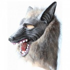 Halloween Simulation Wolf Head Mask - Grey
