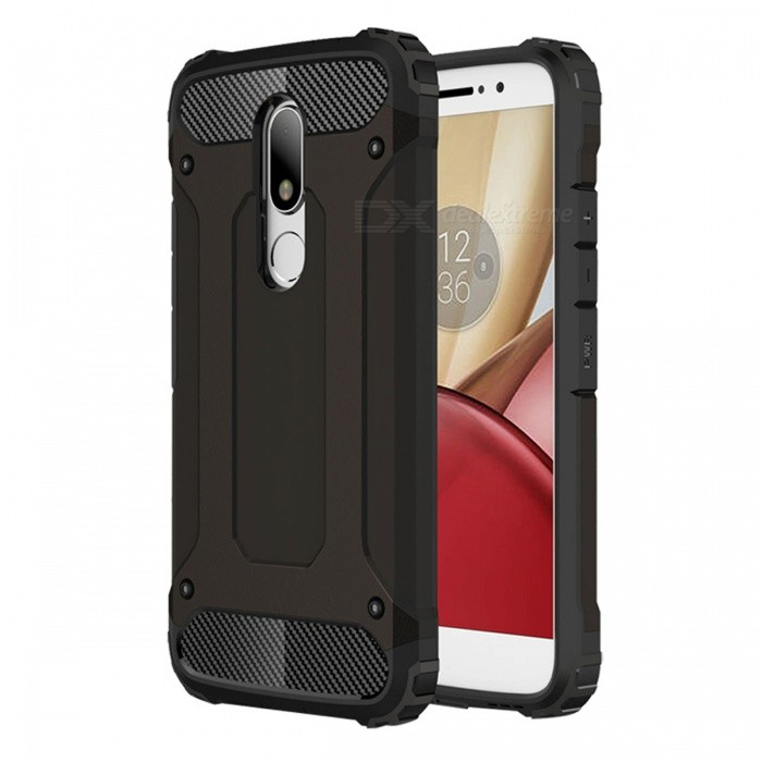 Dayspirit TPU PC Dual Layer Case for Motorola Moto M - BlackTPU Cases<br>Form  ColorBlackModelN/AMaterialOthers,PC + TPUQuantity1 pieceShade Of ColorBlackCompatible ModelsMotorola Moto MPacking List1 x Case<br>