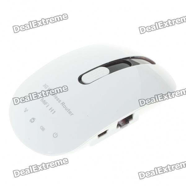 Portable 3G/HSDPA/HSUPA/W-CDMA 1X/EVDO/TD-SCDMA USB WIFI Wireless Broadband Router - White