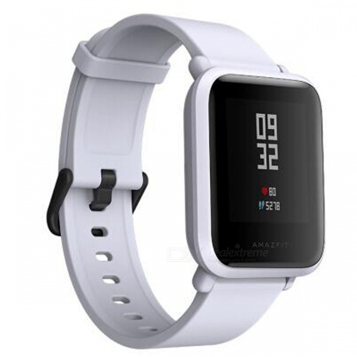 Xiaomi AMAZFIT Youth Edition Sports Smart Watch - GreySmart Bracelets<br>Form  ColorGreyModelA1608Quantity1 pieceMaterialPlastic cementShade Of ColorGrayWater-proofYesBluetooth VersionOthers,BT4.1Touch Screen TypeOthers,Touch screenOperating SystemAndroid 4.4,iOSCompatible OSAndroid4.4.iOS8.0Battery Capacity190 mAhBattery TypeLi-ion batteryStandby Time45 daysOther FeaturesSupported Language: ChinesePacking List1 x Watch1 x Recharge stand 1 x User Manual (Chinese)<br>