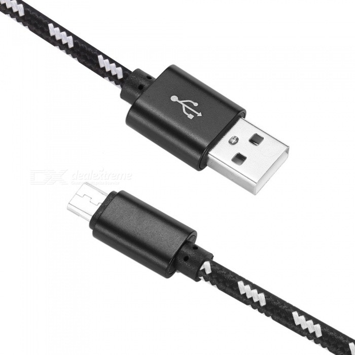 Nylon Woven USB 2.0 to Micro USB Data / Charging Cable - Black (2M)Cables<br>Form  ColorBlackModelN/AMaterialAluminum Alloy + NylonQuantity1 pieceCompatible ModelsMost devices with Micro USB portCable Length200 cmConnectorMicro USB,USB 2.0Transmission RateUSB 2.0Packing List1 x Cable<br>