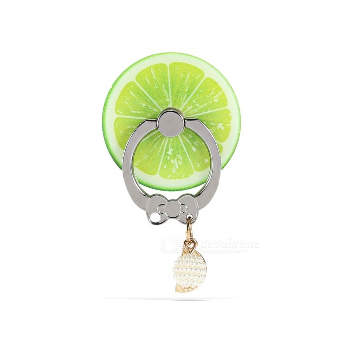 Lemon Style Finger Ring Holder Phone Lanyard Mobile Stand - GreenPhone Charms<br>Form  ColorCyanModelN/AMaterialPCQuantity1 piecePacking List1 x Ring Holder1 x Lanyard<br>
