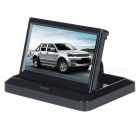 "5"" Folding Digital Car Monitor with 2-Way Video Input - Black"