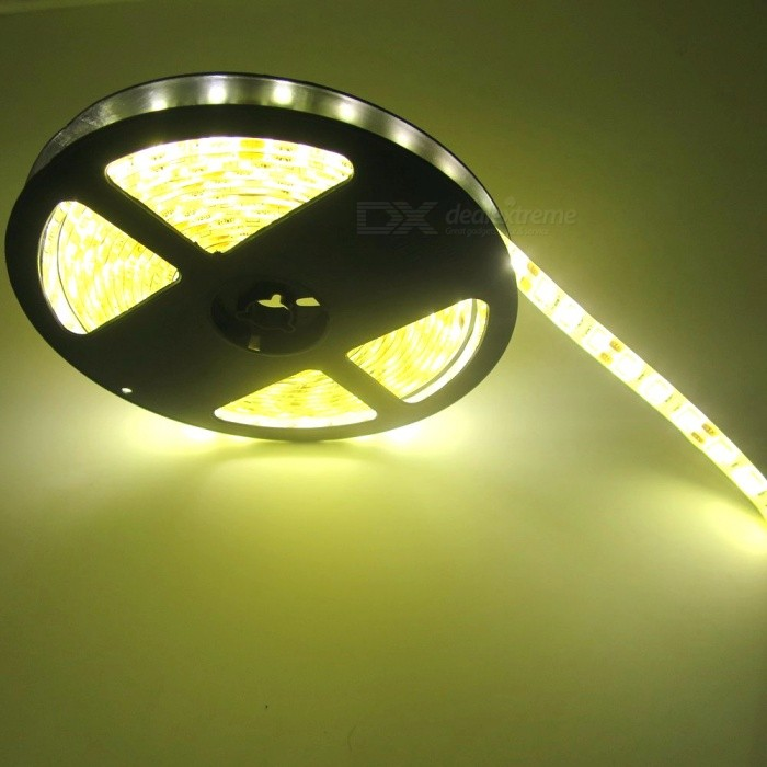 SZFC Waterproof 5M 300-LED Warm White LED Strip with US Power Adapter5050 SMD Strips<br>Form  ColorWhite + Yellow + Multi-ColoredColor BINWarm WhiteModel5050SMD-WMaterialCircuit boardQuantity1 DX.PCM.Model.AttributeModel.UnitPowerOthers,60WRated VoltageDC 12 DX.PCM.Model.AttributeModel.UnitEmitter Type5050 SMD LEDTotal Emitters300Color Temperature2700-3500KWavelength0Theoretical Lumens6000 DX.PCM.Model.AttributeModel.UnitActual Lumens3000 DX.PCM.Model.AttributeModel.UnitPower AdapterUS PlugPacking List1 x LED strip1 x US charger (Input: AC100-240V; Output: DC-12V/2A)<br>