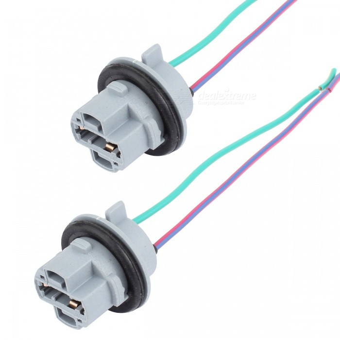 MZ 7440 T20 Sockets Female Adapter for Turn Signal/Reverse Light BulbsOther Gadgets<br>Form  Color7440Model7440-SocketQuantity1 DX.PCM.Model.AttributeModel.UnitMaterialABSShade Of ColorGrayOther FeaturesWire: 2cmPacking List2*Sockets<br>