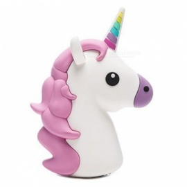 2000mAh Portable Unicorn Cartoon Cute Power Bank - White