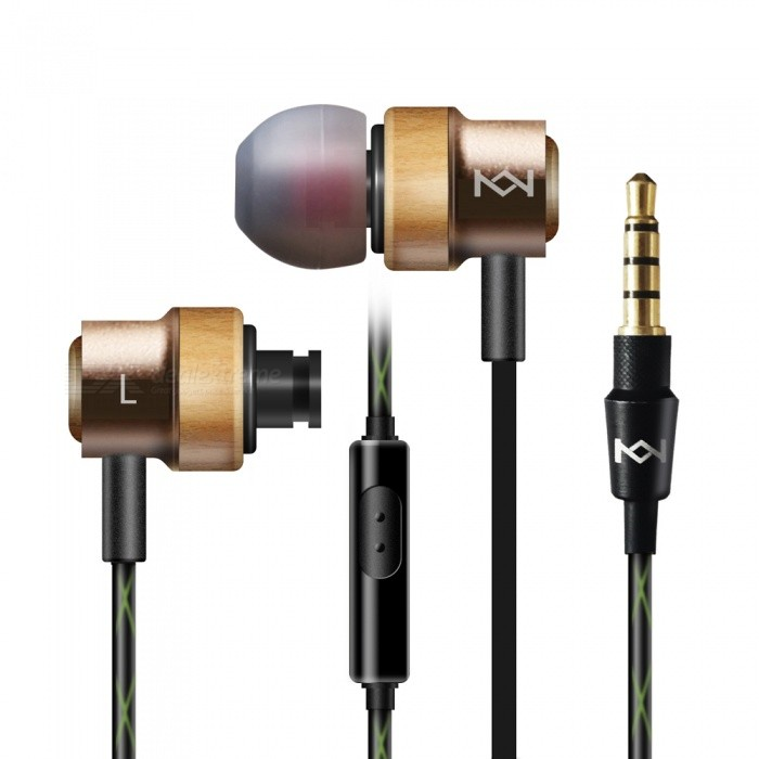 KEJEE H800 Maple Wood Earphone In-Ear w/ MIC / Noise Cancelling - GoldHeadphones<br>Form  ColorGoldenBrandOthers,KEJEEModelH800MaterialMaple wood + TPEQuantity1 pieceConnection3.5mm WiredBluetooth VersionNoCable Length120 cmLeft &amp; Right Calbes TypeEqual LengthHeadphone StyleUnilateral,Earbud,In-EarWaterproof LevelIPX4Applicable ProductsUniversalHeadphone FeaturesHiFi,Noise-Canceling,With Microphone,Lightweight,PortableRadio TunerNoSupport Memory CardNoSupport Apt-XNoChannels2.0SNR98dbSensitivity93+3dbTHD0.1%Frequency Response20Hz-20kHzImpedance16 ohmDriver Unit9mmBattery TypeOthers,NOPacking List1 x KEJEE H800 In-Ear Earphones1 x User Manual1 x Clip1 x Pair of Earplugs Cover (L)1 x Pair of Earplugs Cover (M)1 x Pair of Earplugs Cover (S)<br>