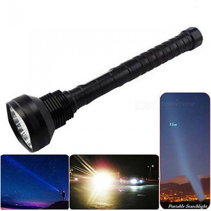 ZHAOYAO Outdoor Ultra-birght 28-T6 LED Flashlight for Camping, FishingOther Batteries Flashlights<br>Form  ColorblackQuantity1 DX.PCM.Model.AttributeModel.UnitMaterialAluminum alloyOther FeaturesOthers,HighlightBrandOthers,ZHAOYAOEmitter BrandCreeLED TypeXM-LEmitter BINT6Number of EmittersOthers,28-LEDColor BINOthers,Cold whiteWorking Voltage   8.4-16.4 V DX.PCM.Model.AttributeModel.UnitPower Supply18650/26650Current450 DX.PCM.Model.AttributeModel.UnitTheoretical Lumens1 DX.PCM.Model.AttributeModel.UnitActual Lumens10000-13000 DX.PCM.Model.AttributeModel.UnitRuntime3.1-4 DX.PCM.Model.AttributeModel.UnitNumber of Modes5Mode ArrangementHi,Mid,Low,Fast Strobe,SOSMode MemoryNoSwitch TypeClicky SwitchSwitch LocationSideLensGlassReflectorAluminum SmoothBeam Range200-500 DX.PCM.Model.AttributeModel.UnitStrap/ClipNoOutput(lumens)1001 and aboveRuntime(hours)4.1 and abovePacking List1 x Flashlight<br>