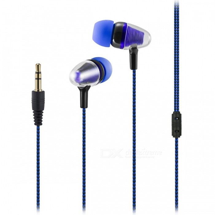 Bullet Head 3.5mm Wired In-Ear Earphone for Cell Phones - BlueHeadphones<br>Form  ColorBlueBrandOthers,N/AModelA9100MaterialPlastic + alloyQuantity1 DX.PCM.Model.AttributeModel.UnitConnection3.5mm WiredBluetooth VersionNoConnects Two Phones SimultaneouslyNoCable Length1 DX.PCM.Model.AttributeModel.UnitLeft &amp; Right Cables TypeEqual LengthHeadphone StyleBilateral,In-EarWaterproof LevelIPX2Applicable ProductsUniversalHeadphone FeaturesLightweight,PortableRadio TunerNoSupport Memory CardNoSupport Apt-XNoChannels2.0Packing List1 x Wired Earphone<br>
