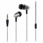 Bullet Head 3.5mm Wired In-Ear Earphone for Cell Phones - Black