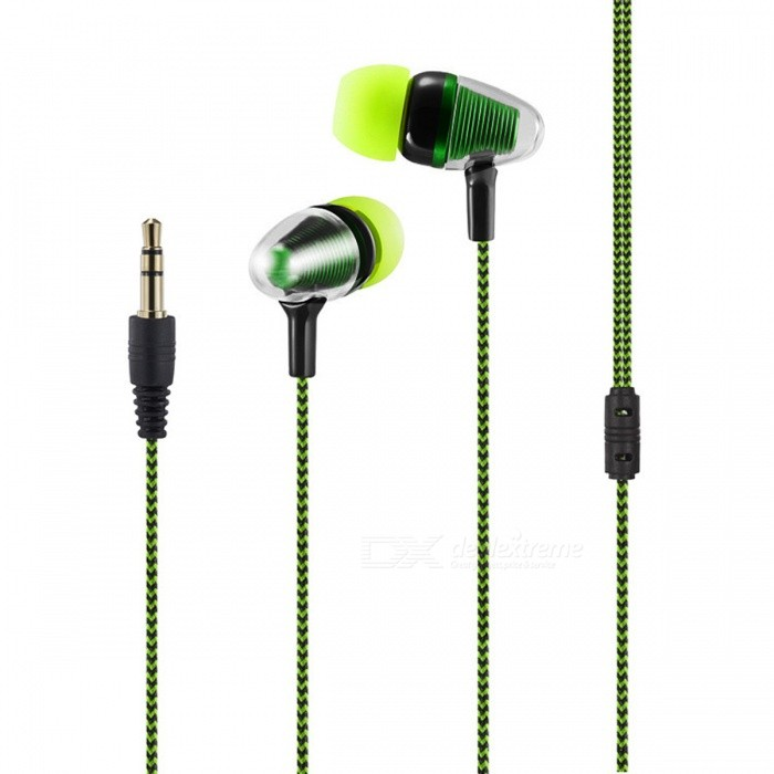 Bullet Head 3.5mm Wired In-Ear Earphone for Cell Phones - GreenHeadphones<br>Form  ColorGreenBrandOthers,N/AModelA9100MaterialPlastic + alloyQuantity1 DX.PCM.Model.AttributeModel.UnitConnection3.5mm WiredBluetooth VersionNoConnects Two Phones SimultaneouslyNoCable Length1 DX.PCM.Model.AttributeModel.UnitLeft &amp; Right Cables TypeEqual LengthHeadphone StyleBilateral,In-EarWaterproof LevelIPX2Applicable ProductsUniversalHeadphone FeaturesLightweight,PortableRadio TunerNoSupport Memory CardNoSupport Apt-XNoChannels2.0Packing List1 x Wired Earphone<br>