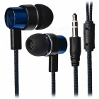 Stylish Woven Cable In-Ear Earphone for Cell Phones / Tablet PC - Blue