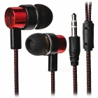 Stylish Woven Cable In-Ear Earphone for Cell Phones / Tablet PCs - Red