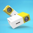 YG-300 LCD Projector 600LM 1080P Portable Media Player - Yellow (EU)