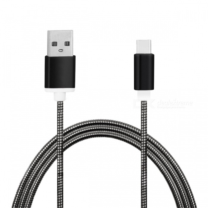 mini smile Stainless Steel Type-C Charging Data Cable for GoPro Hero 5Cables &amp; Adapters<br>Form  ColorBlackModelMC-01MaterialStainless steel + Zinc AlloyQuantity1 DX.PCM.Model.AttributeModel.UnitShade Of ColorBlackCompatible ModelsOthers,GoPro Hero 5Cable Length100 DX.PCM.Model.AttributeModel.UnitConnectorUSB 3.1 Type-cPacking List1 x Cable<br>