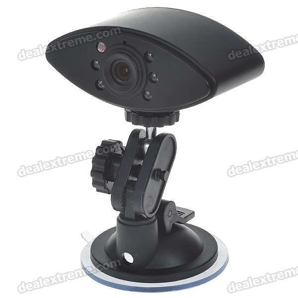 3.0MP Wide Angle 5-LED Night Viewing Digital Car DVR Camcorder w/ Mini USB/Micro SD/TV-Out