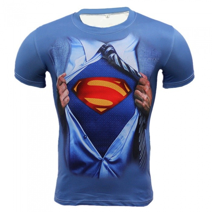 Outdoor Multi-functional Zipper Superman Pattern Mens T-shirt (XXXL)Form  ColorBlue + RedSizeXXXLModelA-2493Quantity1 DX.PCM.Model.AttributeModel.UnitMaterialPolyesterShade Of ColorBlueSeasonsSpring and SummerGenderMensShoulder Width47 DX.PCM.Model.AttributeModel.UnitChest Girth100-124 DX.PCM.Model.AttributeModel.UnitSleeve Length20 DX.PCM.Model.AttributeModel.UnitTotal Length68 DX.PCM.Model.AttributeModel.UnitBest UseCross-training,Yoga,Running,Climbing,Rock Climbing,Family &amp; car camping,Backpacking,Camping,Mountaineering,Travel,Cycling,Triathlon,Cross-trainingSuitable forAdultsPacking List1 x Mens T-shirt<br>