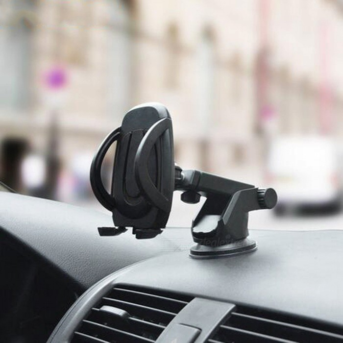 Universal Car Windshield Mobile Phone Holder Mount - BlackCar Holders and Organizer<br>Form  ColorBlackModel-Quantity1 DX.PCM.Model.AttributeModel.UnitMaterialPlasticShade Of ColorBlackPacking List1 x Car Windshield Mobile Phone Universal Holder<br>