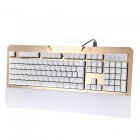 USB Wired Gaming Mechanical Keyboard med LED bakgrundsbelyst, Blue Switch