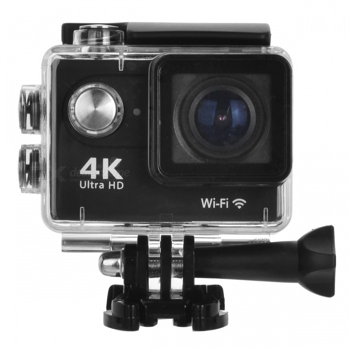 H9 Action Camera Ultra HD 4K WiFi 1080P/60fps 2.0 LCD Screen - BlackSport Cameras<br>Form  ColorBlackModelH9Shade Of ColorBlackMaterialPlasticQuantity1 setImage SensorCMOSAnti-ShakeYesFocal DistanceN/A cmFocusing RangeN/AEffective Pixels12mega pixelsImagesJPGStill Image Resolution12M / 8M / 5M / 4MVideoMOVVideo Resolution4K 25FPS<br>2.7K 30FPS<br>1080P  (1920*1080 ) 60FPS / 30FPSVideo Frame Rate25,30,60Cycle RecordYesISONoExposure Compensation-2;-1.7;-1.3;-1;-0.7;-0.3;0;+0.3;+0.7;+1;+1.3;+1.7;+2.0Supports Card TypeTFSupports Max. Capacity32 GBLCD ScreenYesScreen TypeOthers,LCDScreen Size2.0 inchBattery Measured Capacity 1050 mAhNominal Capacity1050 mAhBattery included or notYesSupported LanguagesOthers,English /Esperanza / Portuguese/ (Russian ) / Chinese Traditional / Chinese Simplified / Deutsch /Italiano / France/ Korean/Japanese/ Polski /Turkish/ Czech /ThaiPacking List1 x Sport Camera1 x Set of Accessories<br>