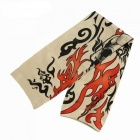 Outdoor Unisex Riding Sun-Proof Flame Pattern Tattoo Cuff (Single One)