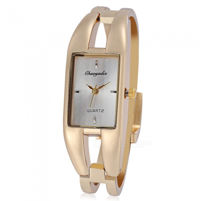 Chaoyada 1133 Bracelet Style Womens Quartz Wrist Watch - Gold + WhiteWomens Dress Watches<br>Form  ColorGolden + WhiteModel1133Quantity1 DX.PCM.Model.AttributeModel.UnitShade Of ColorGoldCasing MaterialElectroplating alloyWristband MaterialElectroplating alloyGenderWomenSuitable forAdultsStyleWrist WatchTypeFashion watchesDisplayAnalogMovementQuartzDisplay Format12 hour formatWater ResistantFor daily wear. Suitable for everyday use. Wearable while water is being splashed but not under any pressure.Dial Diameter2 DX.PCM.Model.AttributeModel.UnitDial Thickness0.9 DX.PCM.Model.AttributeModel.UnitBand Width1.1 DX.PCM.Model.AttributeModel.UnitWristband Length22 DX.PCM.Model.AttributeModel.UnitBattery1 x LR626 battery (included)Packing List1 x Watch<br>