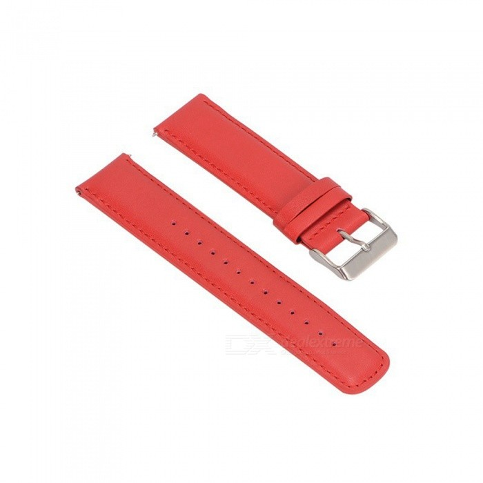 22MM Leather Watch Strap For Samsung Gear S3 - RedWearable Device Accessories<br>Form  ColorRedModelN/AQuantity1 setMaterialCowhidePacking List1 x Watch Strap (12.7cm)1 x Watch Strap (9.3cm)<br>