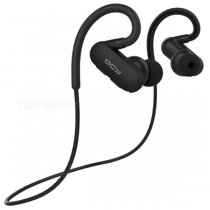 QCY QY31 Bluetooth 4.1 Wireless Sports Headsets Support Aptx - BlackHeadphones<br>Form  ColorBlackBrandQCYModelQY31MaterialPlasticQuantity1 setConnectionBluetoothBluetooth VersionBluetooth V4.1Bluetooth ChipCSR8645Operating Range10MConnects Two Phones SimultaneouslyYesHeadphone StyleBilateral,Earbud,In-Ear,Ear-hookWaterproof LevelIPX4Applicable ProductsUniversalHeadphone FeaturesPhone Control,Noise-Canceling,Volume Control,With Microphone,Lightweight,Portable,For Sports &amp; ExerciseSupport Memory CardNoSupport Apt-XYesSensitivity108±3dBFrequency Response20-20000HzImpedance32 ohmStandby Time160 hourMusic Play Time7 hourPacking List1 x Earphone<br>