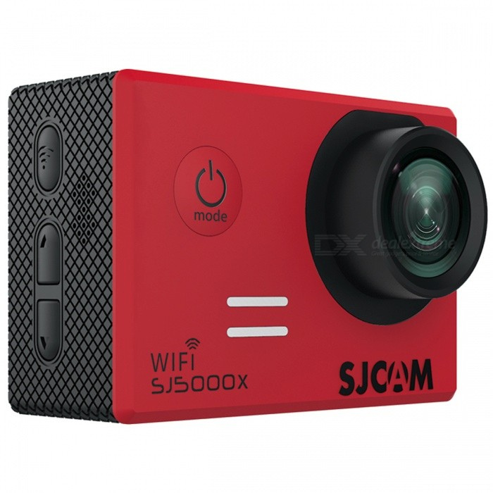 SJCAM SJ5000X Elite Wi-Fi Ultra HD 4K Sports Action Camera - RedSport Cameras<br>Form  ColorRedModelSJ5000XShade Of ColorRedMaterialABS plasticQuantity1 DX.PCM.Model.AttributeModel.UnitImage SensorCMOSImage Sensor SizeOthers,1/2.33Anti-ShakeYesFocal DistanceF= 2.8 DX.PCM.Model.AttributeModel.UnitFocusing RangeF= 2.8Optical ZoomNoDigital ZoomOthers,2X, 4X, 8XBuilt-in SpeedliteNoSpeedlite RangeNoApertureNoAperture RangeNoWide Angle170, 140, 110 and 70degree A + high-definition wide-angle lensEffective Pixels12MegaMax. Pixels12Mega Pixels(4032*3024) DX.PCM.Model.AttributeModel.UnitImagesJPGStill Image Resolution12Mega Pixels(4032*3024)<br>10Mega Pixels(3648*2736)<br>8Mega Pixels(3264*2448)<br>5Mega Pixels(2592*1944)<br>3Mega Pixels(2048*1536)<br>2MHD(1920*1080<br>VAG640*480<br>1.3M1280*960VideoMP4Video Resolution4K 2880*2160 24fps, 2K 2560*144030fps, WVGA@240fps, 1080P (1920*1080)60fps, 720P(1280*720)120fpsVideo Frame Rate30,60,120,Others,240fps.24fpsAudio SystemMonophonyCycle RecordYesISOOthers,Auto, 100, 200, 400, 800, 1600Exposure Compensation-2;-1.7;-1.3;-1;-0.7;-0.3;0;+0.3;+0.7;+1;+1.3;+1.7;+2.0Scene ModeAutoWhite Balance ModeOthers,AutoSupports Card TypeTFSupports Max. Capacity32 DX.PCM.Model.AttributeModel.UnitBuilt-in Memory / RAMNoInput InterfaceMicOutput InterfaceMicro USB,Mini HDMILCD ScreenYesScreen TypeTFTScreen Size2.0 DX.PCM.Model.AttributeModel.UnitScreen Resolution960*240Battery Measured Capacity 900 DX.PCM.Model.AttributeModel.UnitNominal Capacity900 DX.PCM.Model.AttributeModel.UnitBattery TypeLi-polymer batteryBattery included or notYesBattery Quantity1 DX.PCM.Model.AttributeModel.UnitVoltage3.7 DX.PCM.Model.AttributeModel.UnitBattery Charging Time3~4 hoursWater ResistantWater Resistant 3 ATM or 30 m. Suitable for everyday use. Splash/rain resistant. Not suitable for showering, bathing, swimming, snorkelling, water related work and fishing.Supported LanguagesEnglish,Simplified Chinese,Traditional Chinese,Russian,French,GermanCertificationCE FCCPackin