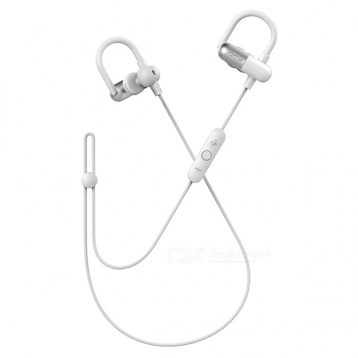 QCY QY11 Aptx HiFi Bluetooth 4.1 Wireless Sports Headphones - WhiteHeadphones<br>Form  ColorWhiteBrandQCYModelQY11MaterialPlasticQuantity1 setConnectionBluetoothBluetooth VersionBluetooth V4.1Operating Range10MConnects Two Phones SimultaneouslyYesHeadphone StyleBilateral,Earbud,In-Ear,Ear-hookWaterproof LevelOthers,SweatproofApplicable ProductsUniversalHeadphone FeaturesPhone Control,Noise-Canceling,Volume Control,With Microphone,Lightweight,Portable,For Sports &amp; ExerciseSupport Memory CardNoSupport Apt-XYesSensitivity108±3dBFrequency Response20-20000HzImpedance32 ohmTalk Time5-8 hourPacking List1 x QY11 Earphone (contain Ear Tips  )1 x USB Charging Cable1 x Cable Buckle1 x User Manual8 x Ear Tips (4 Sizes)<br>