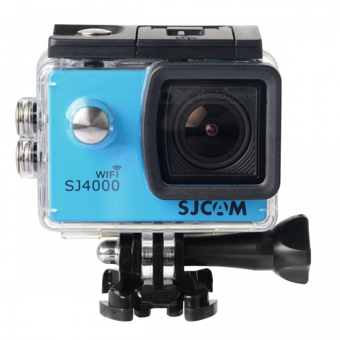 Original SJCAM SJ4000 WIFI 1080P HD 2.0 Sports Action Camera - BlueSport Cameras<br>Form  ColorBlueModelSJ4000 WIFIShade Of ColorBlueMaterialABSQuantity1 setImage SensorCMOSImage Sensor SizeOthers,1/2.3 inchesAnti-ShakeYesFocal Distance/ cmFocusing Range/Effective Pixels12MPImagesJPEGStill Image Resolution4032 x 3024 (12M) / 3648 x 2736 (10M) / 3264 x 2448 (8M) / 1296 x 960 (1.3M)VideoMOVVideo Resolution1080P (1920 x 1080) 30FPS; 720P (1280 x 720) 60FPS; VGA (848 x 480) 60FPS; QVGA (640 x 480) 60FPSVideo Frame Rate30Cycle RecordYesISONoExposure CompensationNoSupports Card TypeTFSupports Max. Capacity32 GBLCD ScreenYesBattery Measured Capacity 900 mAhNominal Capacity900 mAhBattery included or notYesPacking List1 x Camera1 x Set of Accessories<br>