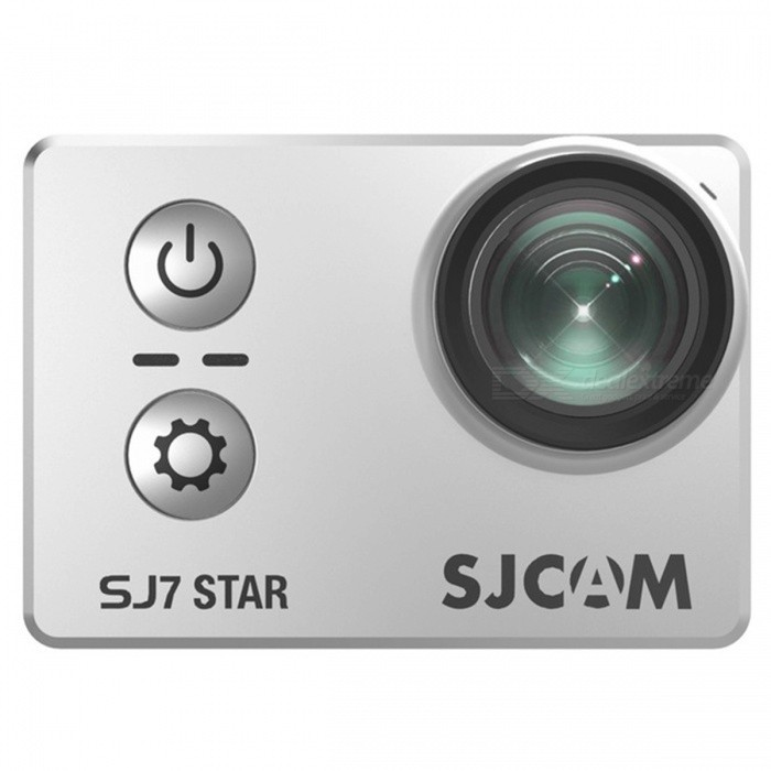 Original SJCAM SJ7 Star WiFi 4K 30FPS Sports Action Camera - SilverSport Cameras<br>Form  ColorSilverModelSJ7 StarShade Of ColorSilverMaterialABSQuantity1 DX.PCM.Model.AttributeModel.UnitImage SensorCMOSImage Sensor SizeOthers,1/2.3 inchesAnti-ShakeYesFocal Distance/ DX.PCM.Model.AttributeModel.UnitFocusing Range/Effective Pixels12MPMax. Pixels16M DX.PCM.Model.AttributeModel.UnitImagesJPGStill Image Resolution16MPVideoMP4Video Resolution4K 30fps, 2016P 30fps, 2.7K 30fps, 2.5K 60/30fps, 1440P 60/30fps, 1080P, 120/60/30fps, 960P 120/60/30fps, 720P 240/120/60/30fpsVideo Frame RateOthers,240/120/60/30fpsCycle RecordYesISONoExposure CompensationNoSupports Card TypeTFSupports Max. Capacity128 DX.PCM.Model.AttributeModel.UnitLCD ScreenYesScreen TypeOthers,LCDScreen Size2 DX.PCM.Model.AttributeModel.UnitBattery Measured Capacity 1000 DX.PCM.Model.AttributeModel.UnitNominal Capacity1000 DX.PCM.Model.AttributeModel.UnitBattery included or notYesSupported LanguagesEnglish,Simplified Chinese,Traditional Chinese,Russian,Portuguese,Spanish,Italian,Korean,French,German,Romanian,Others,Japanese, PolishPacking List1 x Camera1 x Set of Accessories<br>