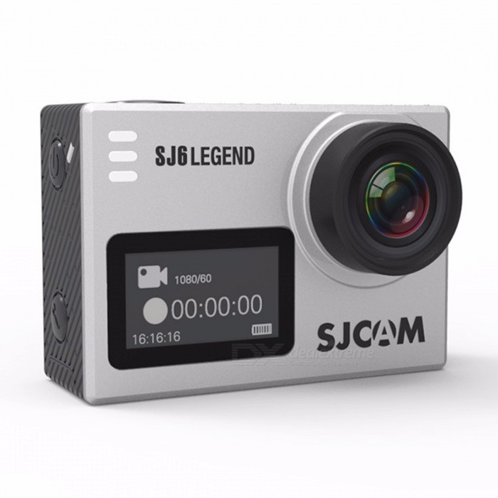 SJCAM SJ6 LEGEND 4K HD Wi-Fi 2.0 Remote Sports Camera - SilverSport Cameras<br>Form  ColorSilverModelSJ6 LEGENDShade Of ColorSilverMaterialABSQuantity1 DX.PCM.Model.AttributeModel.UnitImage SensorCMOSImage Sensor Size2/3 inchesAnti-ShakeYesFocal DistanceN/A DX.PCM.Model.AttributeModel.UnitFocusing RangeN/AEffective Pixels16MPImagesJPEGStill Image Resolution12Mega Pixels(4032*3024) 10Mega Pixels(3648*2736) 8Mega Pixels(3264*2448) 5Mega Pixels(2592*1944) 3Mega Pixels(2048*1536) 2MHD(1920*1080 VAG640*480 1.3M1280*960VideoMOV,MP4Video Resolution4K 2880*2160 24fps, 2K 2560*144030fps, WVGA@240fps, 1080P (1920*1080)60fps, 720P(1280*720)120fpsVideo Frame Rate25,30,60,120Audio SystemStereoCycle RecordYesISOOthers,Auto,100,200,400Exposure Compensation-2;-1.7;-1.3;-1;-0.7;-0.3;0;+0.3;+0.7;+1;+1.3;+1.7;+2.0Scene ModeNormal,B&amp;W,Retro,Warm,CoolWhite Balance ModeOthers,Auto, Daylight,Cloudy,Tungsten,FluorescentSupports Card TypeTFSupports Max. Capacity128 DX.PCM.Model.AttributeModel.UnitInput InterfaceMicOutput InterfaceMicro USB,Micro HDMILCD ScreenYesScreen TypeOthers,LTPS LCDScreen Size2.0 DX.PCM.Model.AttributeModel.UnitScreen Resolution960 x 240Battery Measured Capacity 1000 DX.PCM.Model.AttributeModel.UnitNominal Capacity1000 DX.PCM.Model.AttributeModel.UnitBattery TypeLi-polymer batteryBattery included or notYesWater ResistantWater Resistant 3 ATM or 30 m. Suitable for everyday use. Splash/rain resistant. Not suitable for showering, bathing, swimming, snorkelling, water related work and fishing.Supported LanguagesEnglish,Simplified Chinese,Traditional Chinese,Russian,Portuguese,Spanish,Italian,Korean,French,Czech,German,Others,Slovakia, Japanese, polish, Hungarian, Danish, Dutch, TurkishPacking List1 x Camera1 x Waterproof case1 Set x Accessories<br>