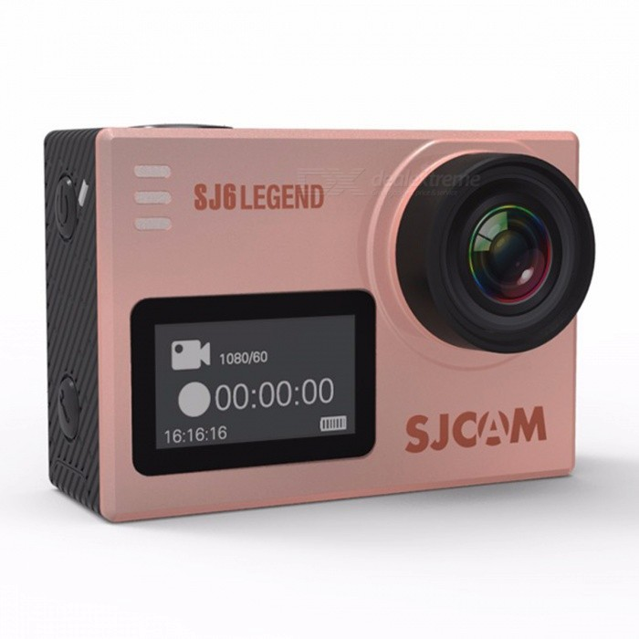 SJCAM SJ6 LEGEND 4K Wi-Fi 2.0 Remote Sports Camera - GoldenSport Cameras<br>Form  ColorRose GoldModelSJ6 LEGENDShade Of ColorGoldMaterialABSQuantity1 setImage SensorCMOSImage Sensor Size2/3 inchesAnti-ShakeYesFocal DistanceN/A cmFocusing RangeN/AEffective Pixels16MPImagesJPEGStill Image Resolution12Mega Pixels(4032*3024) 10Mega Pixels(3648*2736) 8Mega Pixels(3264*2448) 5Mega Pixels(2592*1944) 3Mega Pixels(2048*1536) 2MHD(1920*1080 VAG640*480 1.3M1280*960VideoMOV,MP4Video Resolution4K 2880*2160 24fps, 2K 2560*144030fps, WVGA@240fps, 1080P (1920*1080)60fps, 720P(1280*720)120fpsVideo Frame Rate25,30,60,120Audio SystemStereoCycle RecordYesISOOthers,Auto,100,200,400Exposure Compensation-2;-1.7;-1.3;-1;-0.7;-0.3;0;+0.3;+0.7;+1;+1.3;+1.7;+2.0Scene ModeNormal,B&amp;W,Retro,Warm,CoolWhite Balance ModeOthers,Auto, Daylight,Cloudy,Tungsten,FluorescentSupports Card TypeTFSupports Max. Capacity128 GBInput InterfaceMicOutput InterfaceMicro USB,Micro HDMILCD ScreenYesScreen TypeOthers,LTPS LCDScreen Size2.0 inchScreen Resolution960 x 240Battery Measured Capacity 1000 mAhNominal Capacity1000 mAhBattery TypeLi-polymer batteryBattery included or notYesWater ResistantWater Resistant 3 ATM or 30 m. Suitable for everyday use. Splash/rain resistant. Not suitable for showering, bathing, swimming, snorkelling, water related work and fishing.Supported LanguagesEnglish,Simplified Chinese,Traditional Chinese,Russian,Portuguese,Spanish,Italian,Korean,French,Czech,German,Others,Slovakia, Japanese, polish, Hungarian, Danish, Dutch, TurkishPacking List1 x Camera1 x Waterproof case1 Set x Accessories<br>