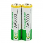 "BTY 1.2V ""3000mAh"" Ni-MH Rechargeable AA Batteries (Pair)"
