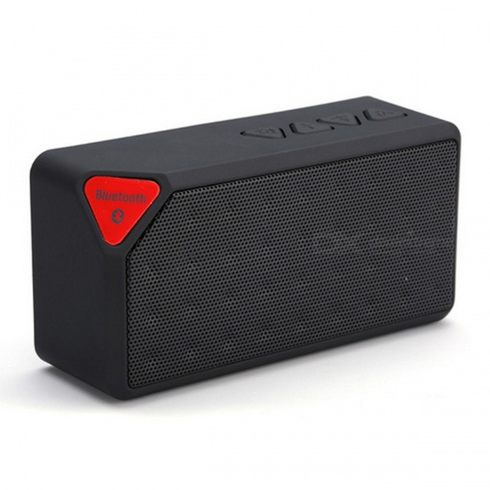 Mini Bluetooth Speaker X3 Fashion Style USB TF Slot Wireless - BlackBluetooth Speakers<br>Form  ColorBlackModelX3MaterialPlasticQuantity1 DX.PCM.Model.AttributeModel.UnitShade Of ColorBlackBluetooth HandsfreeYesBluetooth VersionBluetooth V2.1Operating Rangeup to 10mTotal Power3 DX.PCM.Model.AttributeModel.UnitInterface3.5mm,USB 2.0MicrophoneYesImpedance4 DX.PCM.Model.AttributeModel.UnitApplicable ProductsUniversalSupports Card TypeMicroSD (TF)Built-in Battery Capacity 600 DX.PCM.Model.AttributeModel.UnitPacking List1 x X3 Wireless Bluetooth Speaker1 x USB Power Cable1 x Audio Cable1 x Bilingual User Manual in English and Chinese<br>