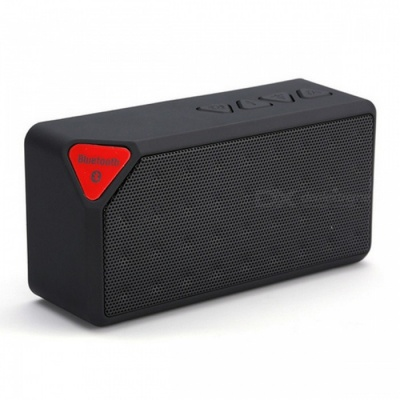 Mini Bluetooth Speaker X3 Fashion Style USB TF Slot Wireless - Black