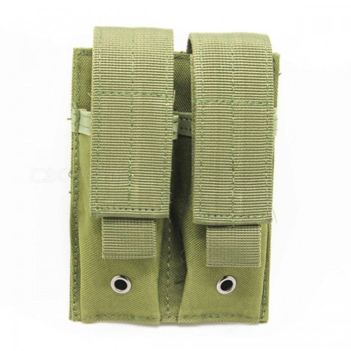 Tactical Molle Ammo Magazine Pouch Holder Bag - GreenForm  ColorArmy GreenQuantity1 pieceMaterialNylonPacking List1 x MOLLE PAL Double 5.56/.223 Magazine Pouch<br>