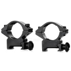 25mm Gun Rail Mount - Black (2PCS)