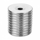 22 x 3mm Strong Round Hole NdFeB Magnets - Silver (10 PCS)