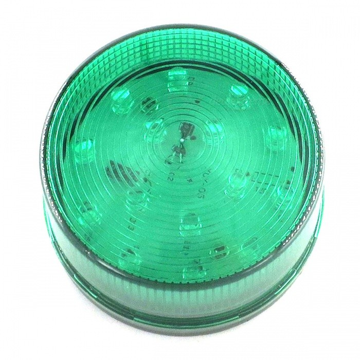 ZHAOYAO DC 12V Round Shape Safety Warning Light - GreenOther Security Products<br>Form  ColorGreenMaterialABSQuantity1 piecePower SupplyOthers,WiringBattery included or notNoBattery Number0Power AdaptornoPower AdapterOthers,WiringRate VoltageDC12VRated Current80 mAPacking List1 x Warning light<br>