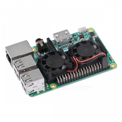 Ultimate Dual Cooling Fan Kit Module for Raspberry Pi 3B, 2B (No Pi)